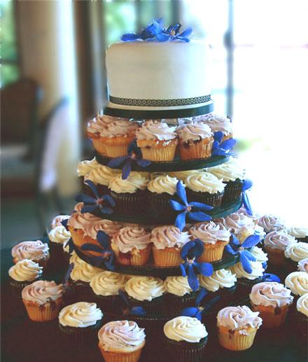 Cupcakes: una alternativa original al típico pastel de boda