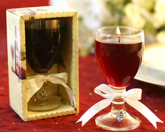Souvenirs: velas de gel en diferentes tipos de copas