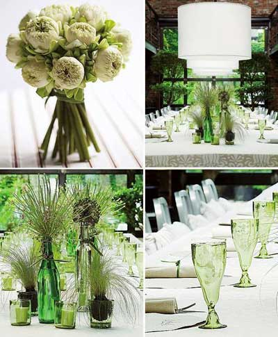 decoraciones para bodas. decoracion-odas-color-verde