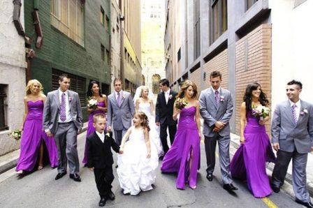 Los vestidos de las damas de honor